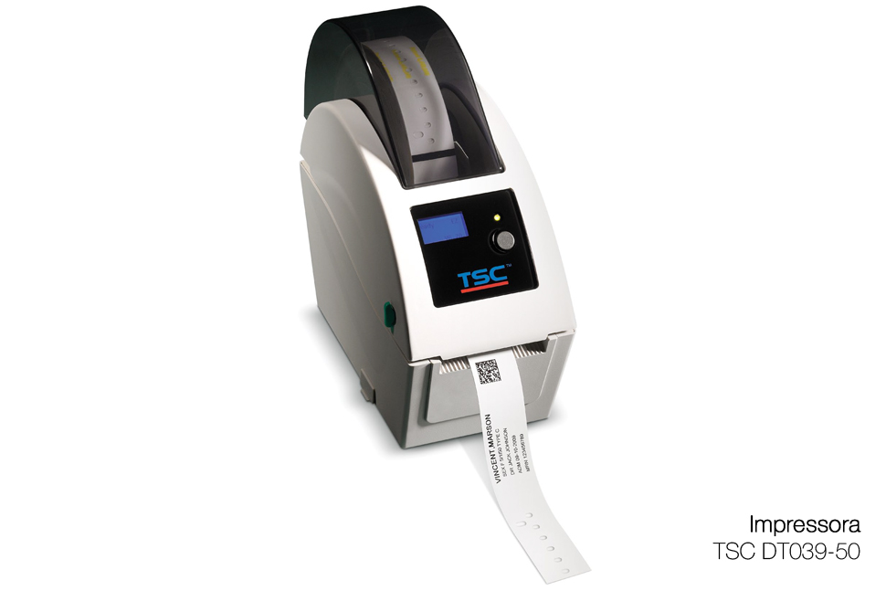Pulseiras Código de Barras e Impressora